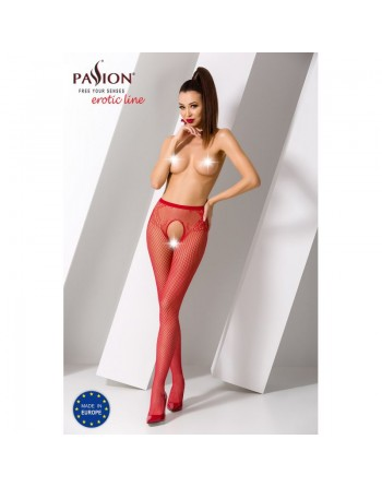 S019R Collants ouverts - Rouge