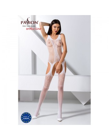 BS072W Bodystocking - Blanc