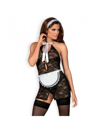 Servgirl Costume 5 pcs - Noir et blanc